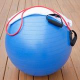 Equipamento do exercício para o estilo de vida saudável Imagens de Stock