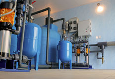 Equipamento do filtro da purificação de água Imagem de Stock Royalty Free