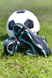 Equipamento do futebol Foto de Stock Royalty Free