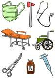 Equipamento do hospital ilustração royalty free