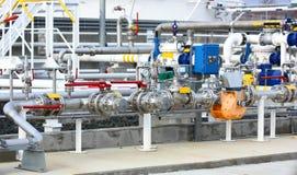 Equipamento do petróleo e gás Fotografia de Stock Royalty Free