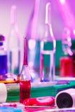 Equipamento do vidro do laboratório médico Foto de Stock Royalty Free