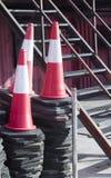 Equipamento dos postes de amarração dos cones do tráfego Imagens de Stock
