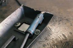 Equipamento e ferramentas de soldadura Foto de Stock