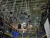 Equipamento e projetores profissionais de iluminação fotos de stock royalty free