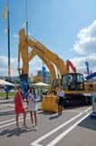 Equipamento e tecnologias de construção internacional da exposição o 6 de junho de 2013. Moscou, Rússia. Imagem de Stock