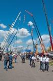 Equipamento e tecnologias de construção internacional da exposição o 6 de junho de 2013. Moscou, Rússia. Foto de Stock Royalty Free
