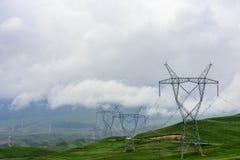 Equipamento elétrico no platô de Qinghai Tibet Foto de Stock Royalty Free