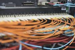 Equipamento em rede de alta velocidade, close-up Foto de Stock