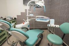 Equipamento em uma cirurgia do dentista Fotografia de Stock