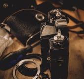 Equipamento fotográfico velho Imagens de Stock