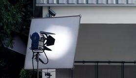 Equipamento grande da luz do estúdio do diodo emissor de luz Fotografia de Stock