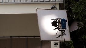 Equipamento grande da luz do estúdio do diodo emissor de luz imagens de stock