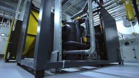 Equipamento industrial da fábrica Interior químico da fábrica Facilidade industrial video estoque