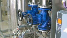 Equipamento industrial tecnologico complexo moderno da purificação de água filme