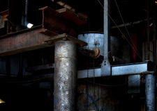 Equipamento industrial velho da central elétrica Foto de Stock Royalty Free