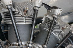 Equipamento intrincado do motor de jato Fotos de Stock