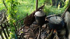 equipamento Javanese tradicional em servir o alimento para a vida foto de stock royalty free