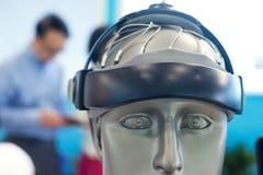 Equipamento médico, equipamento de teste do cérebro Fotografia de Stock
