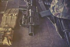 Equipamento militar Foto de Stock