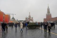 Equipamento militar no quadrado vermelho em Moscou Imagem de Stock