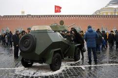Equipamento militar no quadrado vermelho em Moscou Foto de Stock Royalty Free