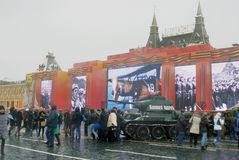 Equipamento militar no quadrado vermelho em Moscou Fotos de Stock Royalty Free