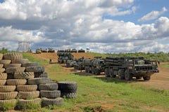 Equipamento militar que participa na mostra fotos de stock royalty free