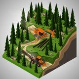 Equipamento para a indústria da silvicultura Imagem de Stock Royalty Free