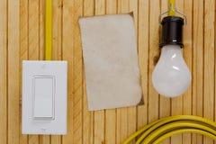 Equipamento para instalar tomadas elétricas Fotos de Stock