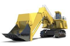 Equipamento pesado. Máquina escavadora com cubeta. ilustração royalty free