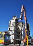 Equipamento poderoso para a demolição de Christchurch Fotografia de Stock Royalty Free