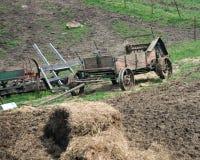 Equipamento puxado a cavalo da exploração agrícola de Amish foto de stock royalty free