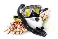 Equipamento subaquático Fotografia de Stock