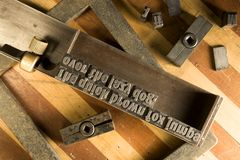 Equipamento Typesetting Imagem de Stock