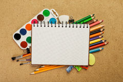 Equipamentos de desenho fotografia de stock