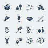 Equipamentos de esporte do projeto liso Vetor Fotografia de Stock Royalty Free