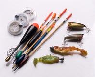 Equipamentos de pesca Imagens de Stock