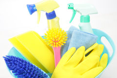 Equipamentos de tarefas domésticas Fotografia de Stock