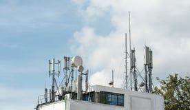 Equipamentos de telecomunicação Fotografia de Stock Royalty Free