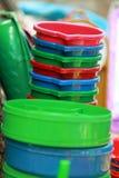 Equipamentos plásticos da cozinha Imagem de Stock Royalty Free