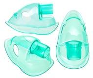 Equipamiento médico para la inhalación con la máscara respiratoria imagen de archivo libre de regalías