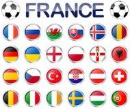 Equipas nacionais do jogo de futebol de França ilustração do vetor