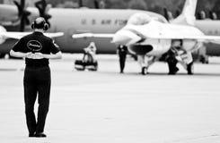 Equipe à terra do U.S.A.F. Thunderbird Fotos de Stock