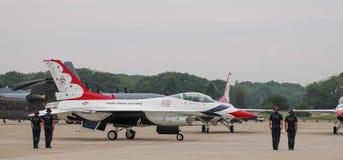 Equipe à terra do U.S.A.F. Thunderbird Foto de Stock Royalty Free
