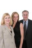 Equipe 1 do negócio de três pessoas Fotografia de Stock Royalty Free