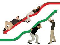 Equipe 2 do sucesso & da falha de negócio Imagem de Stock