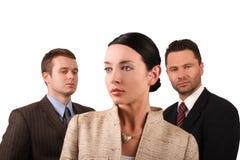 Equipe 3 do negócio - isolada Imagens de Stock