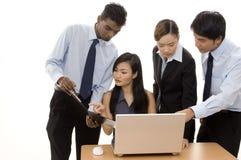 Equipe 3 do negócio Imagens de Stock
