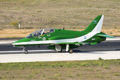 Equipe Aerobatic da exposição da força aérea do saudita Imagens de Stock